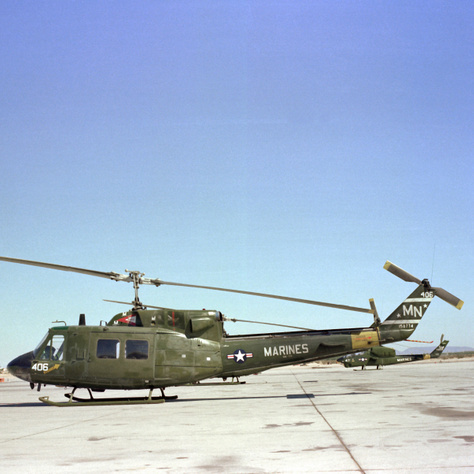 Az 1969-től gyártott UH–1N egyik példánya 1985-ben