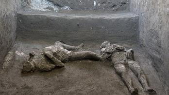 Úr és szolga testét rekonstruálták Pompejiben a régészek