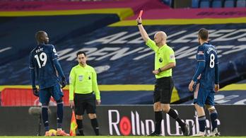 Több piros lap, mint gól a Leeds–Arsenal angol bajnokin