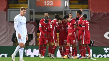 Tovább folytatódik a Liverpool szédületes veretlenségi sorozata