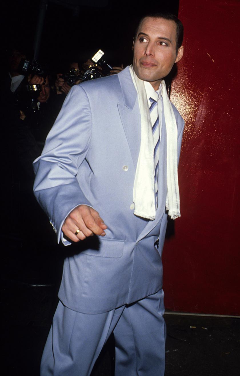 Freddie Mercury 1990 augusztusában.