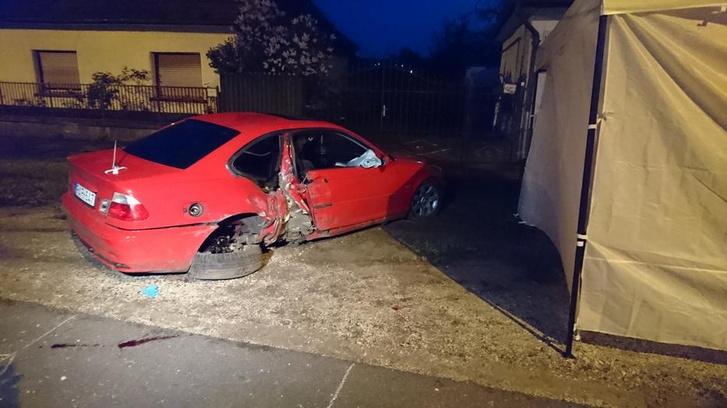 Így nézett ki az autó a halálos veresi baleset után
