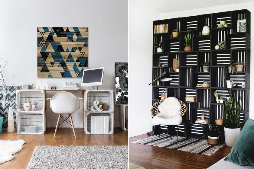 8 olcsó, de mutatós bútor a lakásba egyszerű faládákból: könnyű őket elkészíteni