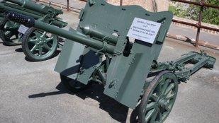 A ŠKODA által gyártott páncéltörő ágyú modellezése