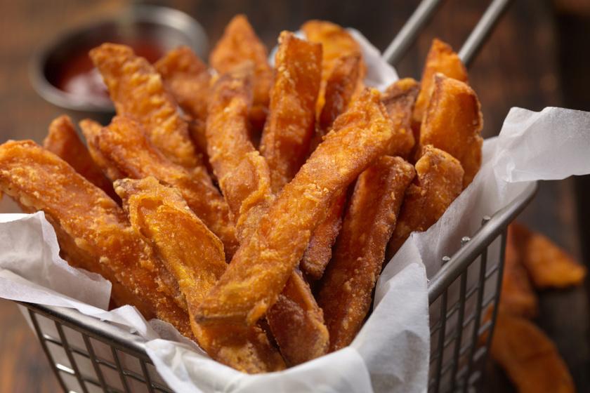 ropogósra sült édeskrumpli recept