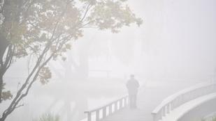 Sűrű köd és szitálás lesz éjjel és reggel