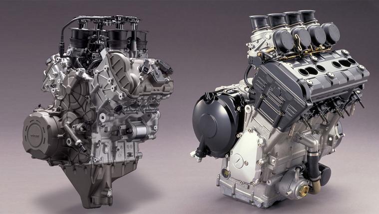 A Panigale V4 és a 2001-es Yamaha YZF-R1 blokkja