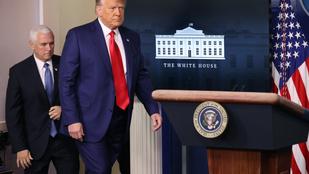 Trump egyperces villám-sajtótájékoztatóval ünnepelte meg a Dow Jones sikerét