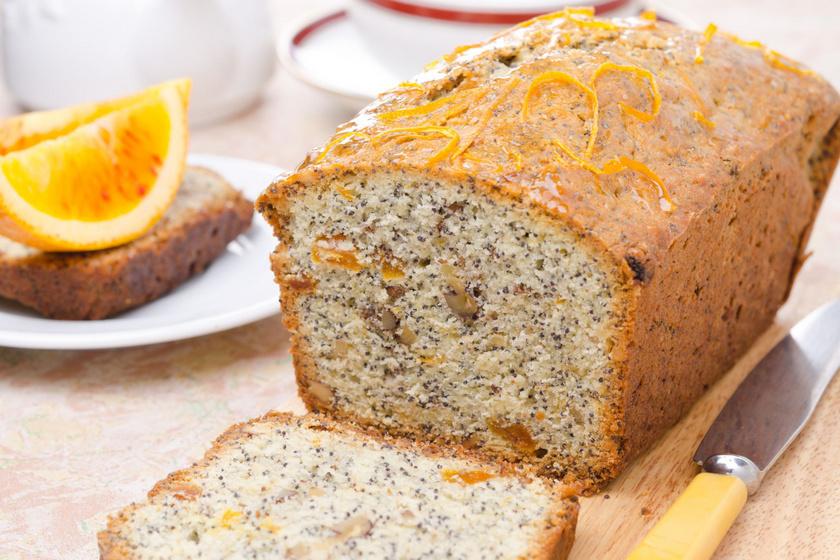 Narancsos, mákos kevert süti: sziruppal leöntve nem szárad ki