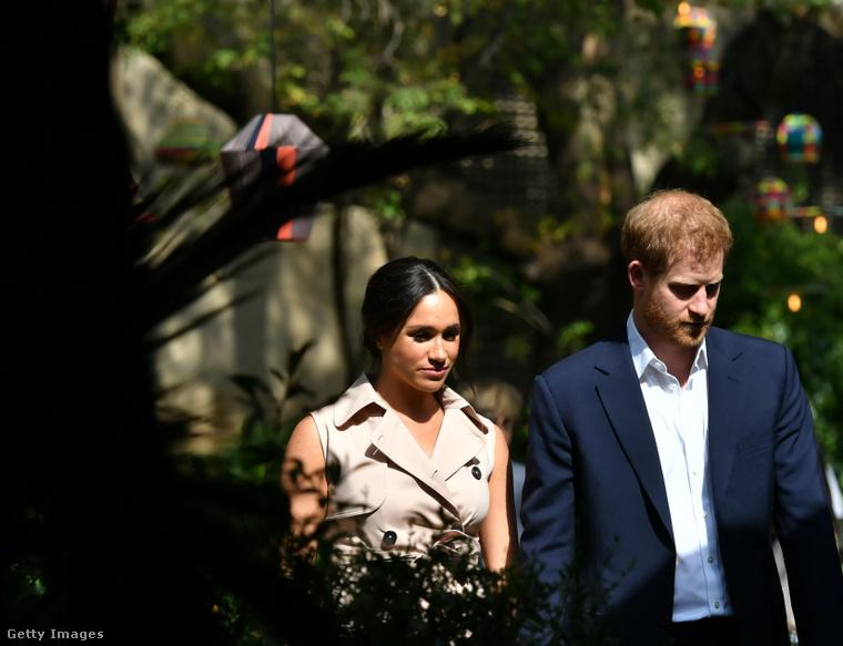 Meghan Markle és Harry herceg tavaly októberben, Johannesburgban