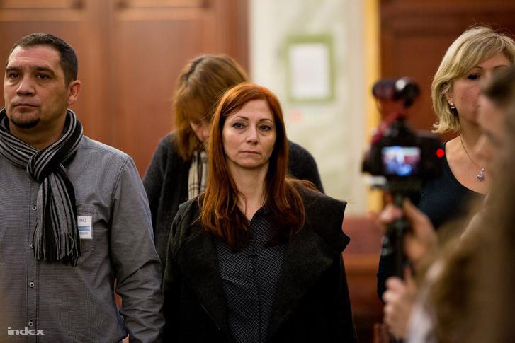 Renner Erika az áldozat a másodfokú ítélethirdetéskor Budapesten 2018. február 22-én