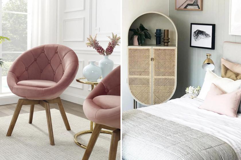 Legyen szó ülőbútorokról, szekrényekről, asztalokról vagy polcokról, 2021-ben divatosak lesznek a lekerekített, gömbölyded darabok.