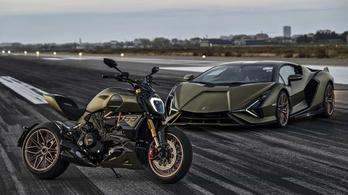 Ducati Diavel, egy vonónyi Lamborghinivel