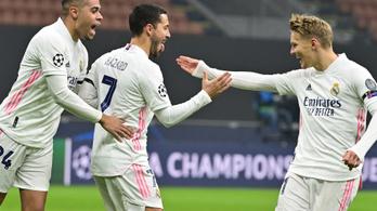 A Real Madrid idegenben verte az Intert, az Atalanta az Anfiled-en sokkolta a Liverpoolt