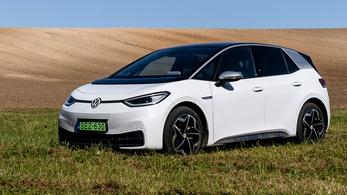 Már a VW ID.3 Európa kedvenc villanyautója