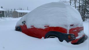 Novemberi rekord, 75 centiméter hó esett Kanadában