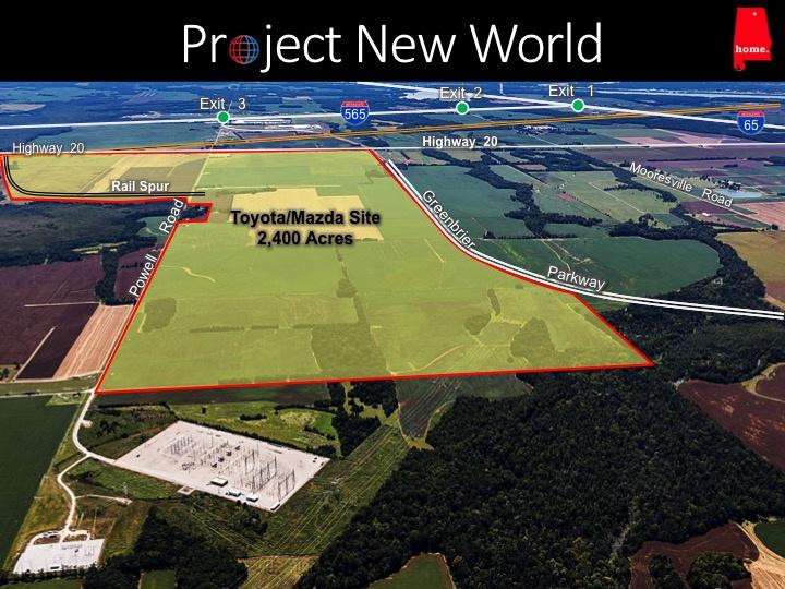 A Toyota és a Mazda Huntsville-ben tervez új, közös gyárat.