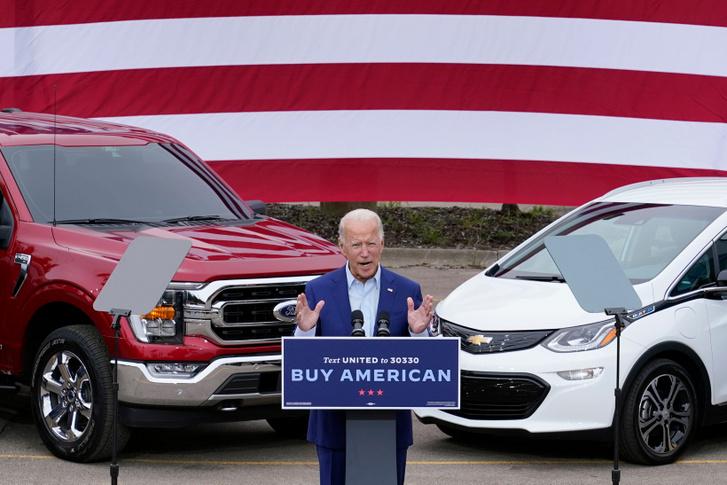 Biden az UAW-nál is kampányolt, sikerrel.