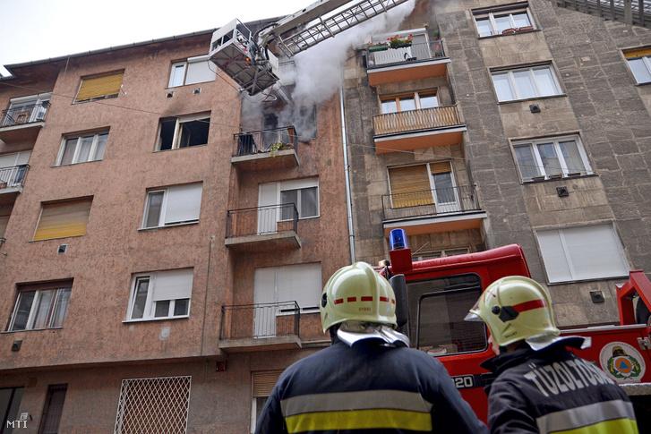 Lakástűz BUdapesten, a IX. kerületben