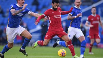 A Liverpool a hosszabbításban veszített pontokat a Brighton ellen