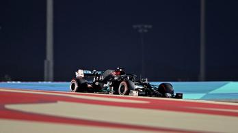 Lewis Hamilton pályarekorddal szerezte meg a pole pozíciót Bahreinben