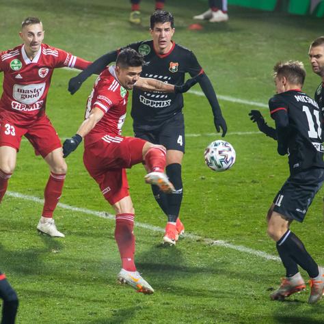 Akciójelenet a Kisvárda–Budafok mérkőzésen
