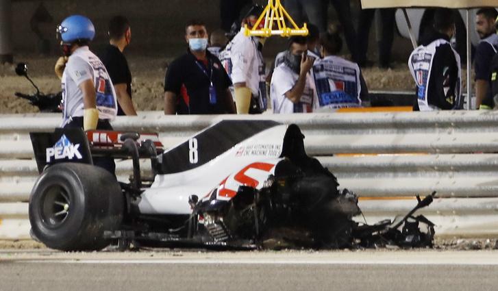 Ennyi maradt Grosjean autójából