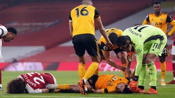 Súlyosan megsérült a Wolves egyik legjobbja, így is nyert az Arsenal ellen