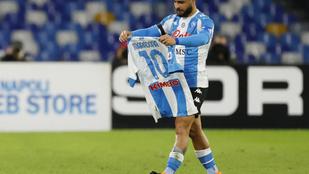 A Napoli csapatkapitánya is Maradonának ajánlotta a gólját