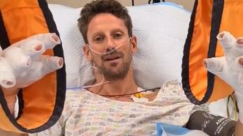 Először jelentkezett be kórházi ágyáról Grosjean