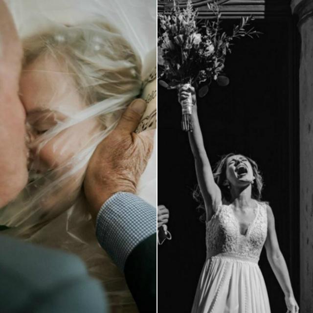 Szokatlan esküvői képek 2020-ból: a koronavírus mindent elsöpört a régi romantikából
