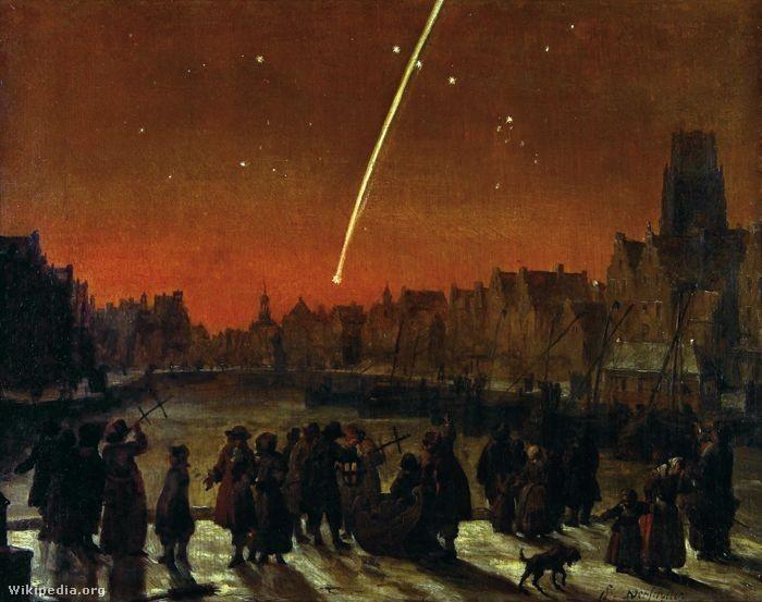 Lieve Verschuier: Üstökös (1680)