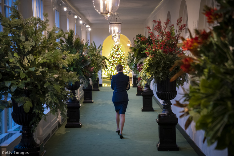 Íme, az ünnepi díszben fürdő Fehér Ház