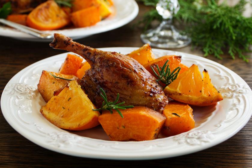 Ünnepi kacsacomb naranccsal és tökkel sütve: egyszerre omlós, ropogós és szaftos