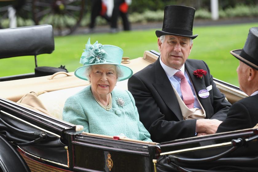 Erzsébet királynő és David Bowes-Lyon 2017-ben.