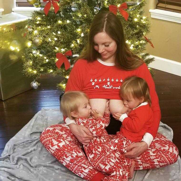 A 38 éves, Seattle-i  Misty Lang hét gyermek boldog édesanyja, aki nemcsak szülni szeret, hanem szoptatni is