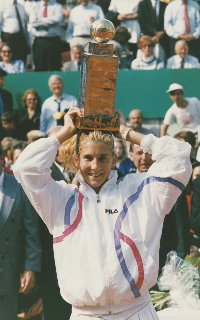 Szeles Mónika 1990-ben a German Open tenisztornán Berlinben.