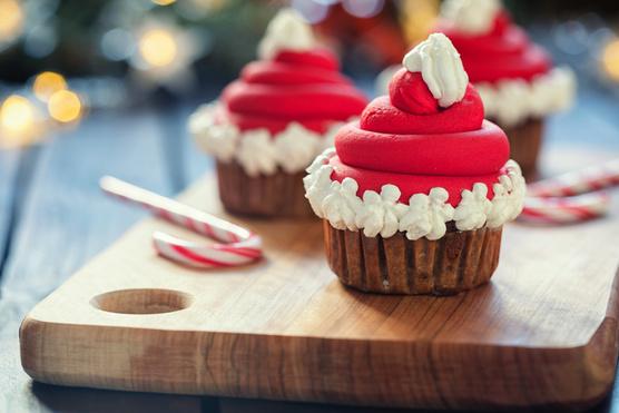 Mikulásos cupcake-nek elkészítve még menőbb.