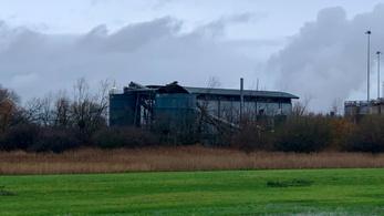 Nagy robbanás történt egy angliai szennyvíztisztító telepen