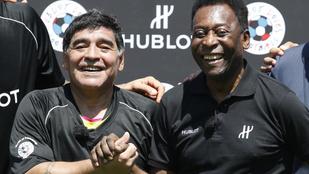 Szeretlek, Diego – Pelé búcsúlevelet írt Maradonának