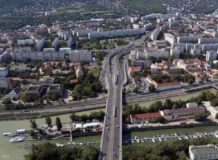 Légi felvétel Budapestről