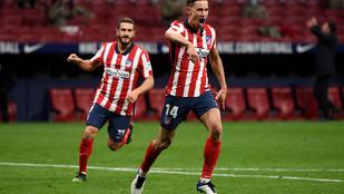 Újabb győzelmével élre állt a La Ligában az Atlético Madrid
