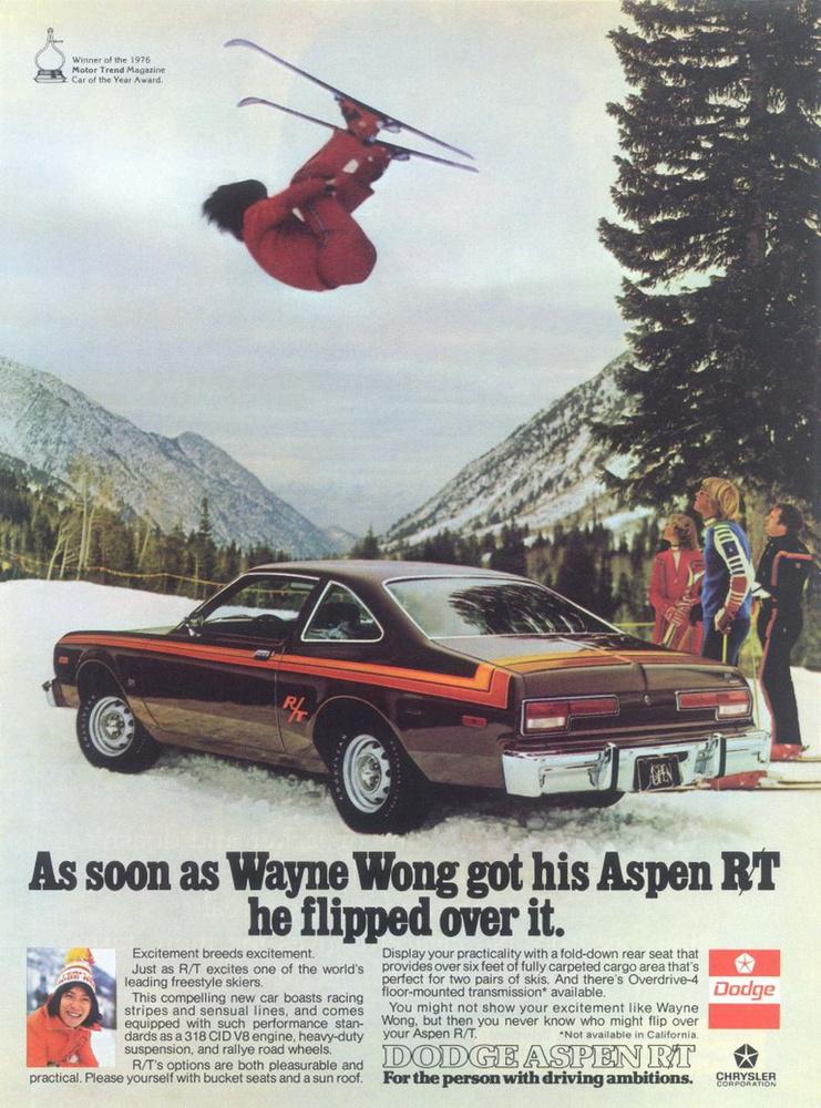 Micsoda asszociáció! A Dodge Aspen nevétől gyorsan eljutunk az aspeni síparadicsomig
