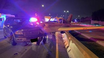 Videón, ahogy autópályán landol egy kisrepülő Minnesotában
