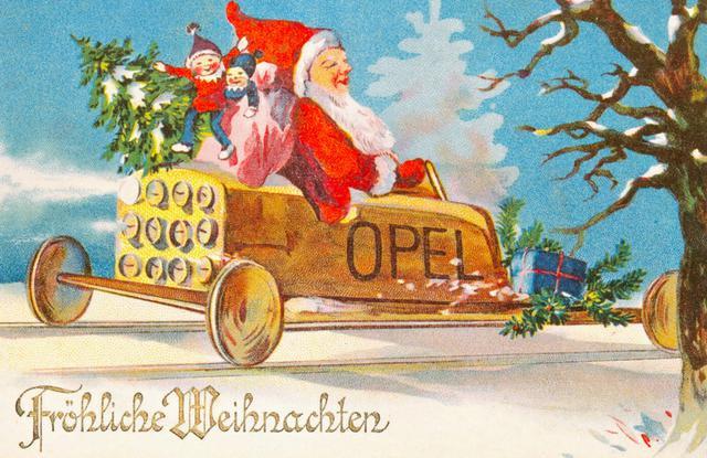 Újabb aranyos, rajzolt üdvözlőlap, ezúttal az Opellel a középpontban