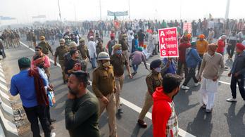 Sztrájkolnak az indiai földművelők az agrárreform ellen