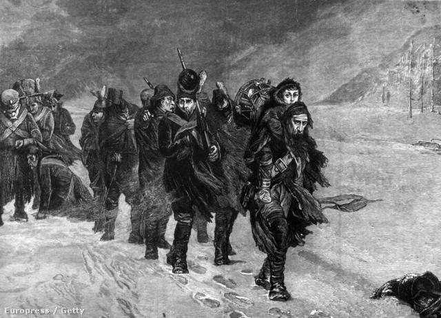 Napoleon katonái kivonulnak Moszkvából