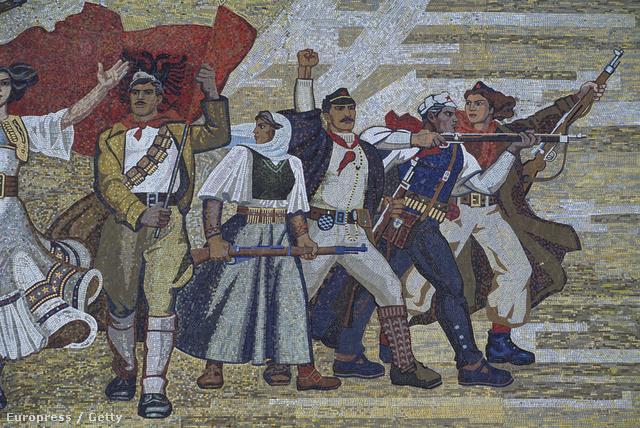 Festmény az albán Nemzeti Múzeumban