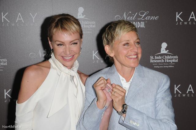 Portia de Rossi és Ellen DeGeneres