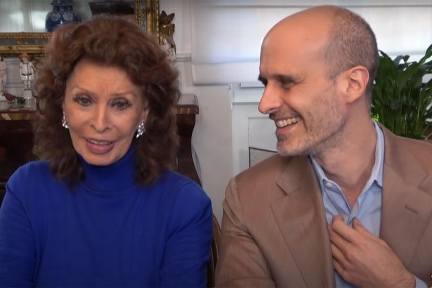 Sophia Loren és fia, Edoardo novemberben adtak interjút.